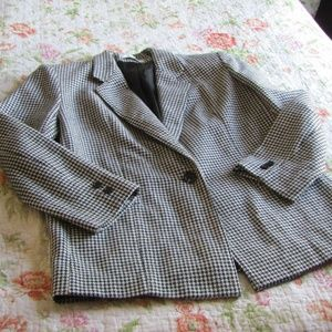 Vintage Houndstooth Blazer, Size 8